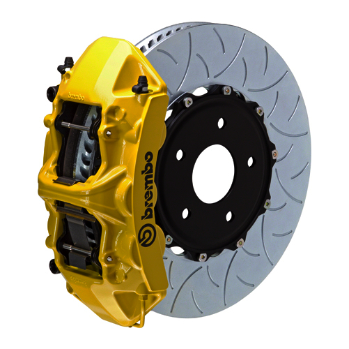 brembo l caliper 6 piston 1 piece 350mm slotted type 3 yellow med