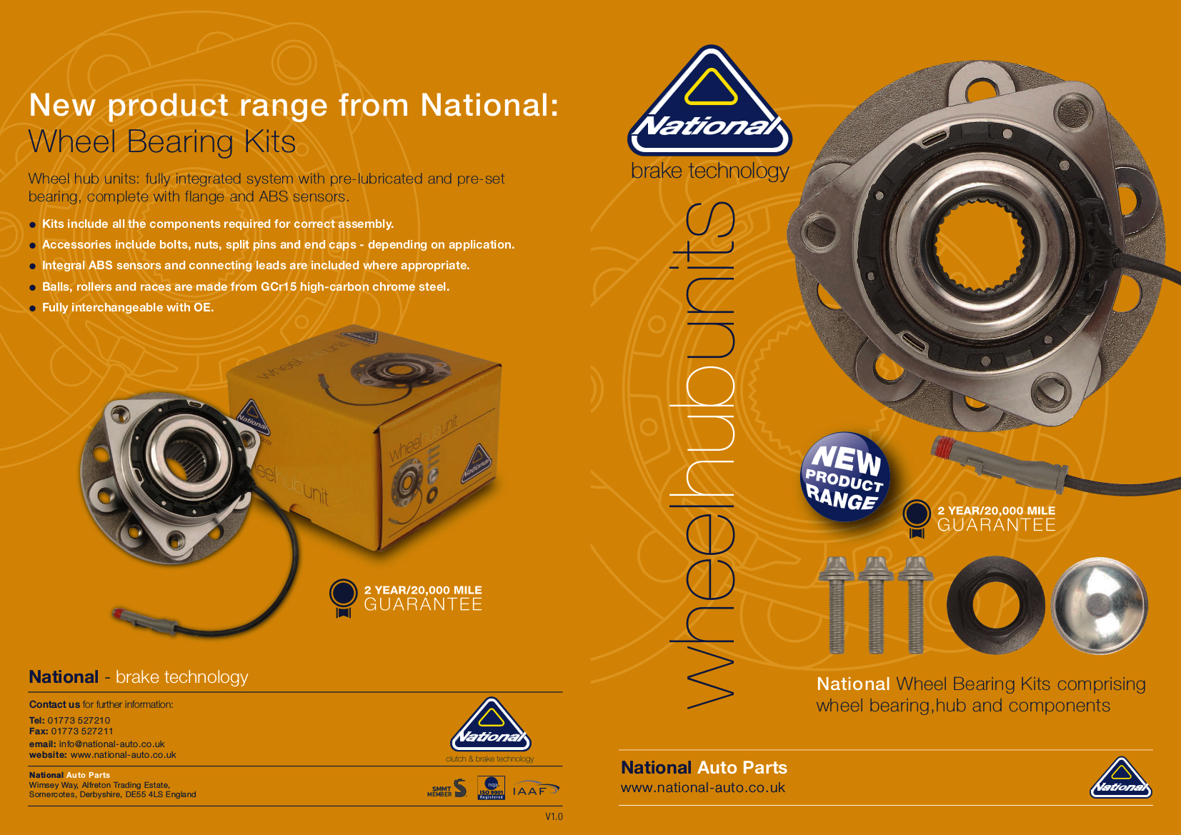 NAP Wheel Hub Brochure 2017