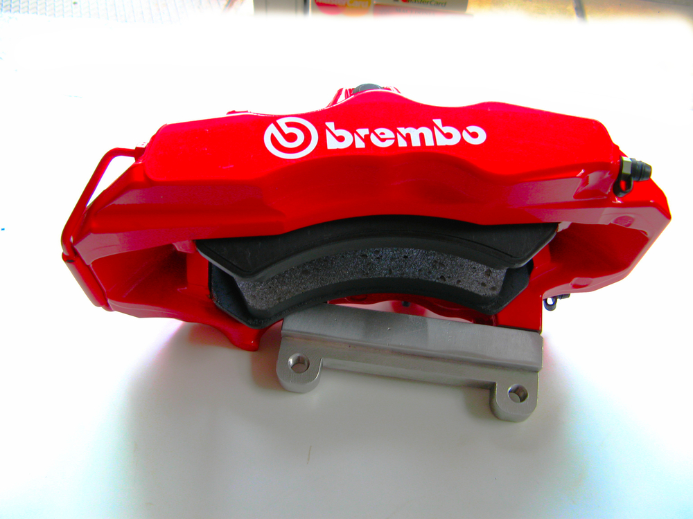 ENZOFERRARI BREMBO CALIPER 6PISTON WITH ALU ADAPTOR AR156 GTA BIG BRAKE KITS WILWOOD BREMBO 6PISTONS NATIONAL TEFLON BRAKE HOSES