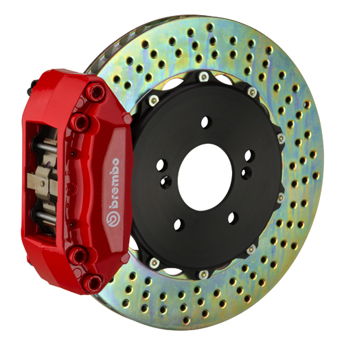 JUNIOR brembo a caliper 4 piston 2 piece 320 328mm drilled red med