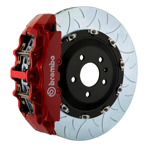 brembo g caliper 8 piston 2 piece 380mm slotted type 3 red med