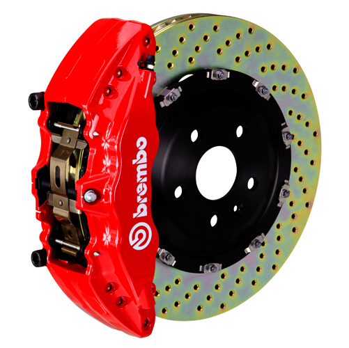 brembo j 2pccaliper 6 piston 2 piece 380x34mm drilled red med